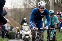 Niki Terpstra (NED/Total - Direct Energie) up the Molenberg<br /> <br /> 75th Omloop Het Nieuwsblad 2020 (1.UWT)<br /> Gent to Ninove (BEL): 200km<br /> <br /> ©kramon
