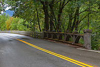 Bridge crossing on historic US 30 along the Columbia River Gorge in Oregon