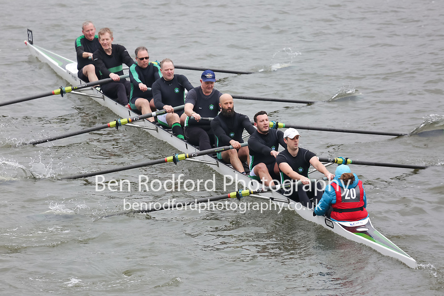 Crew: 20   Trafford Rowing Club   MasC.8+<br /> <br /> Veterans' Head of the River Race 2018<br /> <br /> To purchase this photo, or to see pricing information for Prints and Downloads, click the blue 'Add to Cart' button at the top-right of the page.