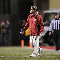 NWA Media/ J.T. Wampler - Alabama coach Nick Saban reacts to a call Saturday Oct. 11, 2014 against Arkansas.