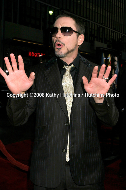 "Robert Downey Jr.""ironman"" Premiere .Grauman's Chinese Theater.Los Angeles, CA.April 30, 2008.©2008 Kathy Hutchins / Hutchins Photo ..."