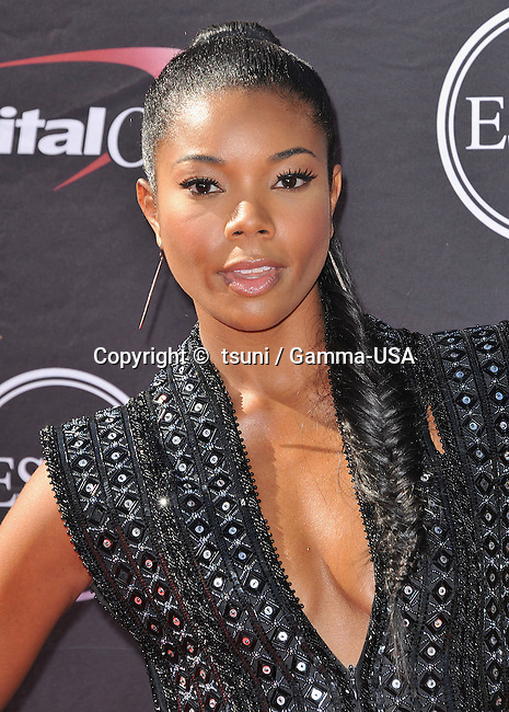 Gabriele Union  at the ESPY 2013 Awards at the Nokia Theatre In Los Angeles.