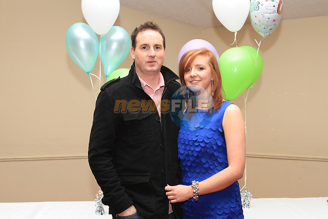 Gerard Dunne and Rebecca Kirwan at the St. Colmcilles Presentation Night in the Boyne Valley Hotel...(Photo credit should read Jenny Matthews www.newsfile.ie)....