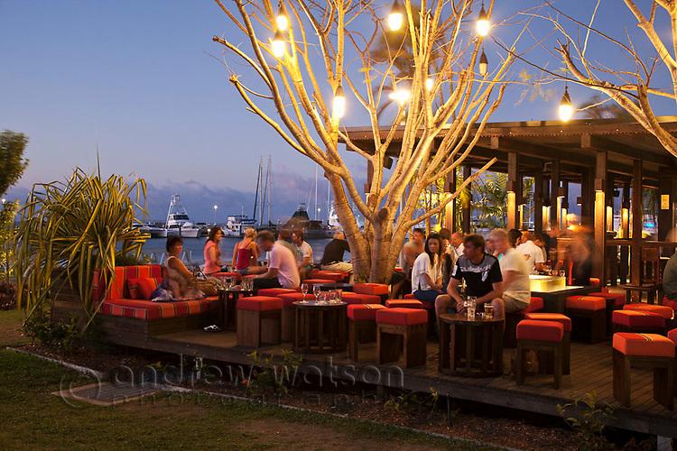 The Salt House Restaurant and Bar at Marina Point.  Cairns, Queensland, Australia