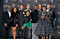 LOS ANGELES, CA. March 30, 2019: Blackish, Courtney Lilly, Yara Shahidi, Marcus Scribner, Miles Brown, Jeff Meacham, Jonathan Groff, Dean Cole, Tracee Ellis Ross & Peter McKenzie at the 50th NAACP Image Awards.<br /> Picture: Paul Smith/Featureflash