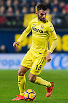 Bojan Jokic of Villarreal CF in action during their La Liga match between Villarreal CF and Real Madrid at the Estadio de la Cerámica on 26 February 2017 in Villarreal, Spain. Photo by Maria Jose Segovia Carmona / Power Sport Images
