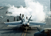 An F/A-18 Hornet prepares to launch Monday, November 29, 2010 from the aircraft carrier USS George Washington (CVN 73). George Washington is in the waters west of the Korean peninsula preparing for a training exercise with the Republic of Korea Navy. .Mandatory Credit: Marcus D. Mince - US Navy via CNP