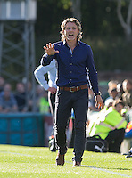 Wycombe Wanderers Manager Gareth Ainsworth gives instructions during the Sky Bet League 2 match between Wycombe Wanderers and Plymouth Argyle at Adams Park, High Wycombe, England on 12 September 2015. Photo by Andy Rowland.
