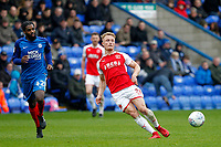 Kyle Dempsey of Fleetwood Town during the Sky Bet League 1 match between Peterborough and Fleetwood Town at London Road, Peterborough, England on 28 April 2018. Photo by Carlton Myrie.
