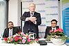 Boris Johnson <br /> Mayor of London <br /> visits Lycamobile Global HQ in Docklands, London, Great Britain <br /> 21st July 2011 <br /> <br /> <br /> Subaskaram Allirajah (Group Chairman)<br /> <br /> Boris Johnson <br /> London Mayor<br /> <br /> Milind Kangle (Group CEO)<br /> <br /> <br /> <br /> Photograph by Elliott Franks