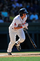 Right fielder Tate Matheny (16) of the Greenville Drive bats in a game against the Columbia Fireflies on Sunday, April 24, 2016, at Fluor Field at the West End in Greenville, South Carolina. Greenville won, 5-1. (Tom Priddy/Four Seam Images)