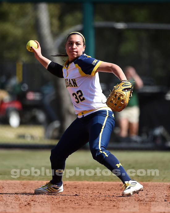 The University of Michigan softball team beats Illinois State, 4-1, in Tampa, Fla., on Feb. 8, 2015.