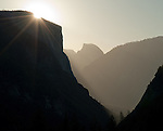 Sunrise, El Cap and Half Dome