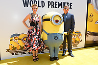 Kristen Wiig &amp; Steve Carell at the world premiere for &quot;Despicable Me 3&quot; at the Shrine Auditorium, Los Angeles, USA 24 June  2017<br /> Picture: Paul Smith/Featureflash/SilverHub 0208 004 5359 sales@silverhubmedia.com