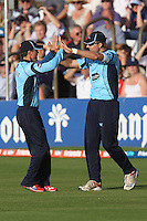 Chris Nash (R) takes a catch to dismiss Mark Pettini of Essex and celebrates - Essex Eagles vs Sussex Sharks - Friends Life T20 Cricket at the Ford County Ground, Chelmsford, Essex - 28/06/12 - MANDATORY CREDIT: Gavin Ellis/TGSPHOTO - Self billing applies where appropriate - 0845 094 6026 - contact@tgsphoto.co.uk - NO UNPAID USE.