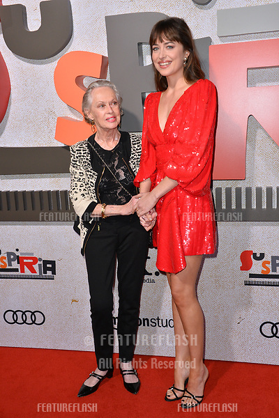 "LOS ANGELES, CA. October 24, 2018: Tippi Hedren & Dakota Johnson at the Los Angeles premiere for ""Suspiria"" at the Cinerama Dome.<br /> Picture: Paul Smith/Featureflash"