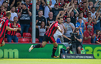 Charlie Daniels of AFC Bournemouth celebrates scoring his goal making it 1 0 during the Premier League match between Bournemouth and Manchester City at the Goldsands Stadium, Bournemouth, England on 26 August 2017. Photo by Andy Rowland.
