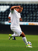 Lee Trundle of Swansea Legends during the Alan Tate Testimonial Match, Swansea City Legends v Manchester United Legends at the Liberty Stadium, Swansea, Wales, UK