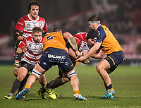 Gloucester's Ben Morgan in action during todays match<br /> <br /> Photographer Bob Bradford/CameraSport<br /> <br /> European Rugby Heineken Champions Cup Group E - Gloucester v Montpellier Herault Rugby - Saturday 11th January 2020 - Kingsholm Stadium - Gloucester<br /> <br /> World Copyright © 2019 CameraSport. All rights reserved. 43 Linden Ave. Countesthorpe. Leicester. England. LE8 5PG - Tel: +44 (0) 116 277 4147 - admin@camerasport.com - www.camerasport.com