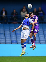 Bolton Wanderers' Reece Burke vies for possession with Sheffield Wednesday's Atdhe Nuhiu<br /> <br /> Photographer Chris Vaughan/CameraSport<br /> <br /> The EFL Sky Bet Championship - Sheffield Wednesday v Bolton Wanderers - Saturday 10th March 2018 - Hillsborough - Sheffield<br /> <br /> World Copyright &copy; 2018 CameraSport. All rights reserved. 43 Linden Ave. Countesthorpe. Leicester. England. LE8 5PG - Tel: +44 (0) 116 277 4147 - admin@camerasport.com - www.camerasport.com