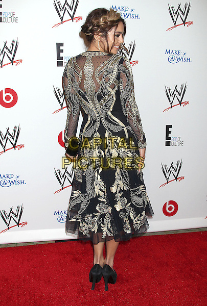 Vanessa Hudgens<br /> WWE &amp; E! Entertainment's &quot;SuperStars For Hope&quot; supporting Make-A-Wish at The Beverly Hills Hotel in Beverly Hills, CA., USA.<br /> August 15th, 2013<br /> side gold black embroidered hair up braid plait dyed blonde full length back behind rear dress<br /> CAP/ADM/RE<br /> &copy;Russ Elliot/AdMedia/Capital Pictures
