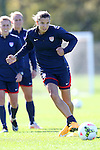 14 October 2014: Tobin Heath. The United States Women's National Team held a training session on the stadium field at Swope Park Soccer Village in Kansas City, Missouri in preparation for the CONCACAF Women's World Cup Qualifying Tournament for the 2015 Women's World Cup in Canada.