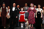 Clarke Thorell, Anthony Warlow, Lilla Crawford, Katie Finneran, Merwin Foard, Brynn O'Malley & Company during the Broadway Opening Night Performance Curtain Call for 'Annie' at the Palace Theatre in New York City on 11/08/2012