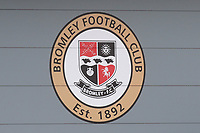 The Club Crest of Bromley FC on the side of the New Stand during Bromley vs Fulham, Friendly Match Football at the H2T Group Stadium on 6th July 2019