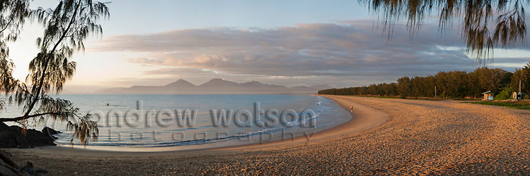 Yorkeys Knob beach at dawn.  Yorkeys Knob, Cairns, Queensland, Australia