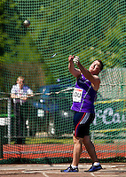 23 MAY 2010 - LOUGHBOROUGH, GBR - Alex Smith (Loughborough University) - Mens Hammer - Loughborough International Athletics .(PHOTO (C) NIGEL FARROW)