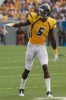WVU wide receiver Ivan McCartney. The WVU Mountaineers beat the Marshall Thundering Herd 34-13 in a game called just after the fourth quarter started because of severe thunderstorms in the area. The game was played at Milan Puskar Stadium in Morgantown, West Virginia on September 4, 2011.