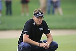 Ian Poulter waits to putt on the 8th green during Day 2 Friday of the Abu Dhabi HSBC Golf Championship, 21st January 2011..(Picture Eoin Clarke/www.golffile.ie)