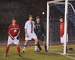 The St. Martin's Saints boys soccer team traveled to Baton Rouge to play the Baton Episcopal Knights. It was a cold and rainy night as the Saints defeated the Knights 3-2.  Saints Martin's recaptured the highly coveted Bishops Cup while maintaining their number 1 ranking in the state and improving their record to 7-1-1.