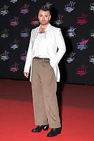 British singer Sam Smith poses on the red carpet as she arrives to attend the 21st NRJ Music Awards ceremony at the Palais des Festivals in Cannes, southeastern France, on November 9, 2019<br /> Le chanteur britanique Sam Smith pose sur le tapis rouge lors de son arrivee a la 21e ceremonie des NRJ Music Awards au Palais des Festivals a Cannes, dans le sud-est de la France - le 9 novembre 2019.<br /> Eric Dervaux_ DALLE