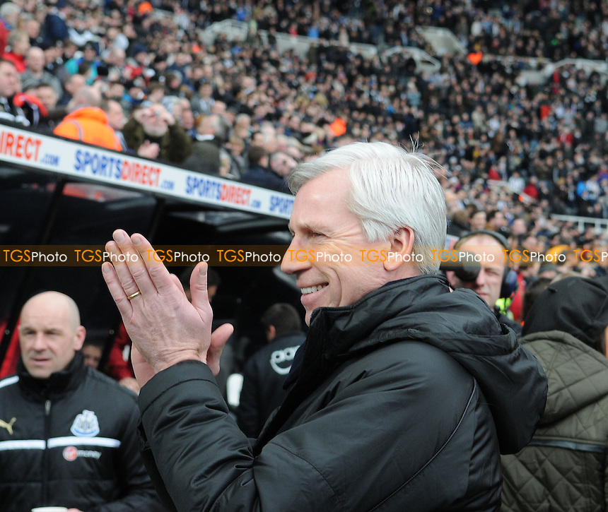 Newcastle United Manager Alan Pardew  - Newcastle United vs Southampton - Barclays Premier League Football at St James Park, Newcastle upon Tyne - 24/02/13 - MANDATORY CREDIT: Steven White/TGSPHOTO - Self billing applies where appropriate - 0845 094 6026 - contact@tgsphoto.co.uk - NO UNPAID USE.