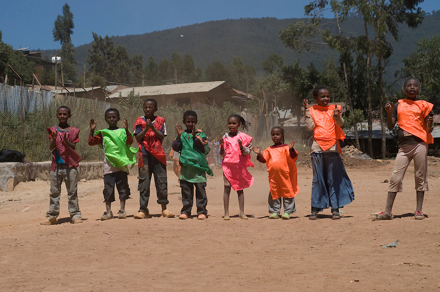 The Right to Play activities use sports to teach children about life lessons such as HIV/AIDS awareness and how to get along with others and confront challenges.