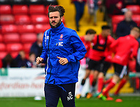 Lincoln City's assistant manager Nicky Cowley during the pre-match warm-up<br /> <br /> Photographer Andrew Vaughan/CameraSport<br /> <br /> The EFL Sky Bet League Two - Lincoln City v Chesterfield - Saturday 7th October 2017 - Sincil Bank - Lincoln<br /> <br /> World Copyright &copy; 2017 CameraSport. All rights reserved. 43 Linden Ave. Countesthorpe. Leicester. England. LE8 5PG - Tel: +44 (0) 116 277 4147 - admin@camerasport.com - www.camerasport.com