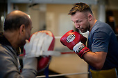 World Champion Boxer Mikkel Kessler training before his fight against Carl Froch on may 25-2013 Phot