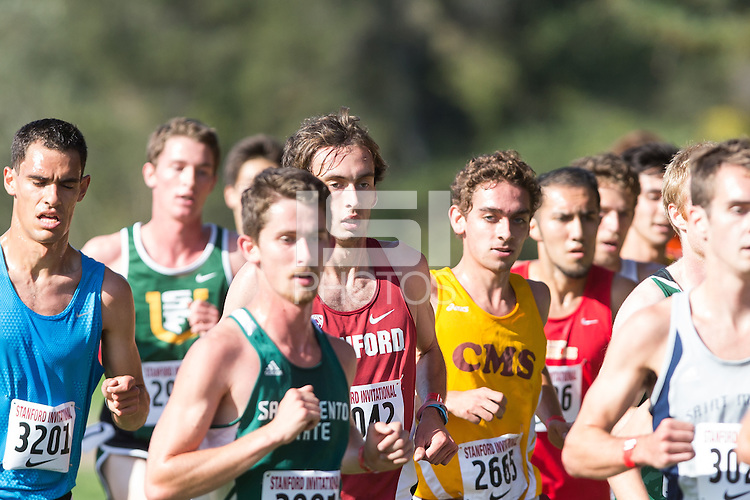 Stanford, California - September 27, 2014:  Stanford Cross Country Invitational at the Stanford Golf Course on Saturday.