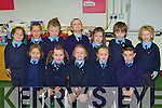 Faha NS junior infants on Tuesday front row l-r: Amy Evans, Katie Howe, Chloe Casey, Jemma Walsh, Jamie Cirillo. Back row: Liam Tangney, Sean Flynn, Kevin O'Callaghan, Kyle McGowan, Ca?ra O'Brien, Scott Drew and Sam Griffin