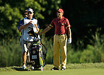 Sergio GARCIA (SPAIN) und sein Caddie, 4.Runde, 88th PGA Championship Golf, Medinah Country Club, IL, USA