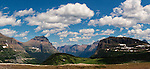 Logan Pass is one of the most beautiful and popular areas of Glacier National Park, seen here in this long panorama.