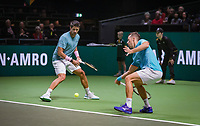 Rotterdam, The Netherlands, 11 Februari 2019, ABNAMRO World Tennis Tournament, Ahoy, first round doubles:  Philipp Kohlschreiber (GER) - Fernando Verdasco (ESP)  (L), Photo: www.tennisimages.com/Henk Koster