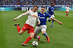 16.03.2019, VELTINS-Arena, Gelsenkirchen, GER, DFL, 1. BL, FC Schalke 04 vs RB Leipzig, DFL regulations prohibit any use of photographs as image sequences and/or quasi-video<br /> <br /> im Bild v. li. im Zweikampf Lukas Klostermann (#16, RB Leipzig) Bastian Oczipka (#24, FC Schalke 04) <br /> <br /> Foto © nph/Mauelshagen