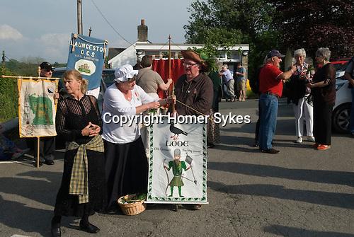 Old Cornwall Society. St Neot Cornwall. 29th May 2016 Oak Apple Day celebration.