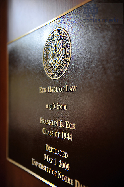 Blessing and dedication of the Eck Hall of Law, May 1, 2009...Photo by Matt Cashore/University of Notre Dame