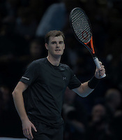 Jamie Murray (GBR) and Bruno Sobres (BRA)(2) action against Ivan Dodig (CRO) and Marcelo Melo (BRA)(6) in their Fleming/McEnroe Group  match during Day Five  of the Barclays ATP World Tour Finals 2015 played at The O2 Arena, London on November 17th  2016<br /> <br /> <br /> <br /> <br /> (BLR)(8)   in their Edberg/ Jarryd /Group  match during Day Three  of the Barclays ATP World Tour Finals 2015 played at The O2 Arena, London on November 15th  2016