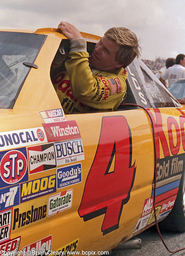 Rick Wilson qualifying Pepsi 400 at Daytona International Speedway in Daytona beach, FL on July 1, 1989. (Photo by Brian Cleary/www.bcpix.com)