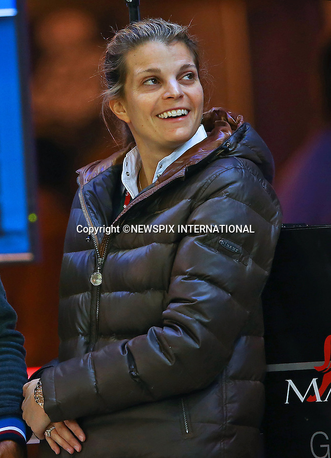 4.12.2014; Paris, France: ATHINA ONASSIS AND HUSBAND ALVARO DE MIRANDA (Doda)<br /> at the Masters Grand Slam competition, the Gucci Paris Masters 2014 at Paris Nord Villepinte.<br /> Mandatory Credit Photos: &copy;Huitel-Crystal/NEWSPIX INTERNATIONAL<br /> <br /> **ALL FEES PAYABLE TO: &quot;NEWSPIX INTERNATIONAL&quot;**<br /> <br /> PHOTO CREDIT MANDATORY!!: NEWSPIX INTERNATIONAL(Failure to credit will incur a surcharge of 100% of reproduction fees)<br /> <br /> IMMEDIATE CONFIRMATION OF USAGE REQUIRED:<br /> Newspix International, 31 Chinnery Hill, Bishop's Stortford, ENGLAND CM23 3PS<br /> Tel:+441279 324672  ; Fax: +441279656877<br /> Mobile:  0777568 1153<br /> e-mail: info@newspixinternational.co.uk