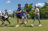 Tommy Fleetwood (ENG) heads down 18 during Round 2 of the Zurich Classic of New Orl, TPC Louisiana, Avondale, Louisiana, USA. 4/27/2018.<br /> Picture: Golffile | Ken Murray<br /> <br /> <br /> All photo usage must carry mandatory copyright credit (&copy; Golffile | Ken Murray)